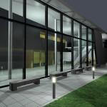 Sonderbauten_200407KR_Konzertsaal Raiding-AußenperspektiveFenster bei Nacht