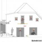 Wohnen_200603UG_Um- und Zubau Gmunden-Schnitt A-A