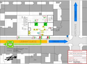 Schule Stadt Wien-Brandschutz Lageplan