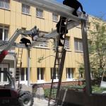 Gesundheitswesen_201308S3_Containerwaschanlage-Stahlkonstruktion Monatage