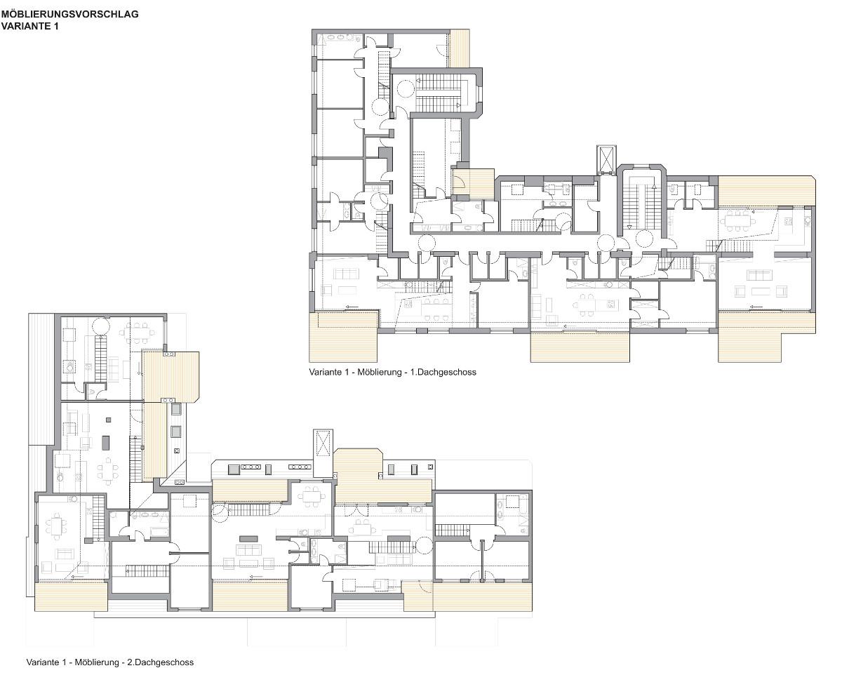 dachgescho ausbau konrad segerer architekten. Black Bedroom Furniture Sets. Home Design Ideas